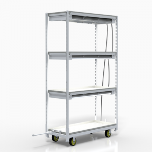 VRE's Grow Cart with T5 Lights and Three Growing Shelves